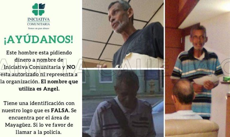 """Buscan sujeto que usa """"truco"""" de pedir a nombre de Iniciativa Comunitaria en Mayagüez"""