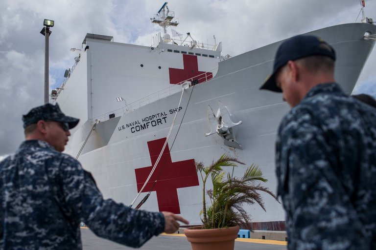 Amid Puerto Rico Disaster, Hospital Ship Admitted Just 6 Patients a Day